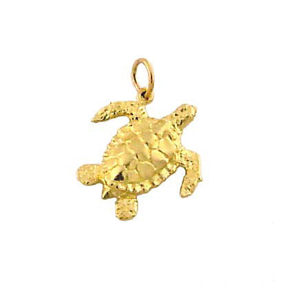 MC-060 Hawaiian Green Sea Turtle Charm - Small