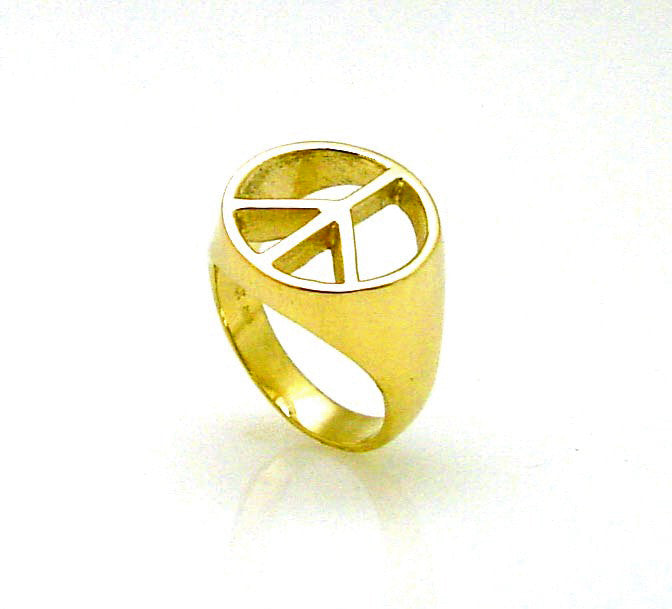 MR-113 Gents Peace Sign Ring