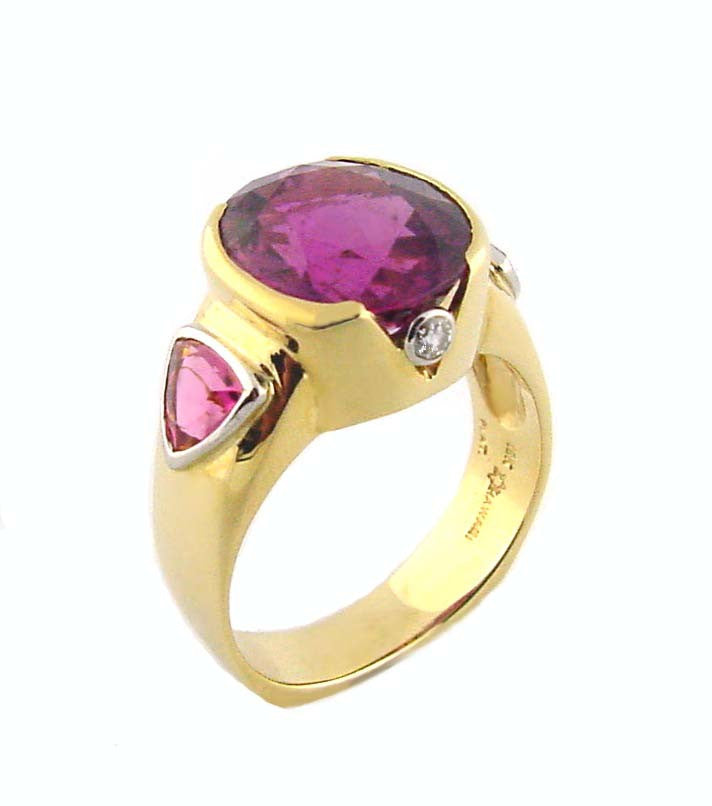 MR-145 Rubelite & Pink Tourmaline Ring