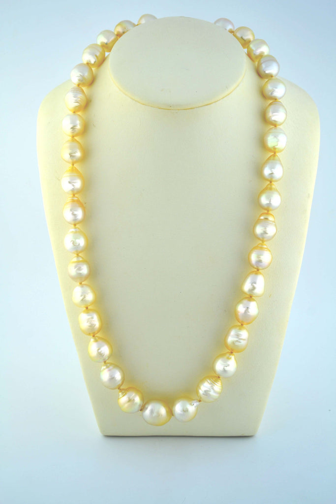 N-040 Golden South Sea Pearl Necklace
