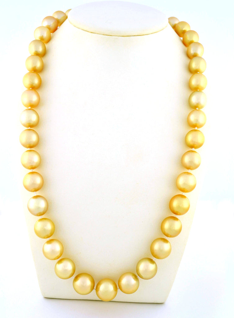 N-110 Golden South Sea Pearl Necklace