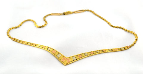 N-071 Tri Gold Necklace