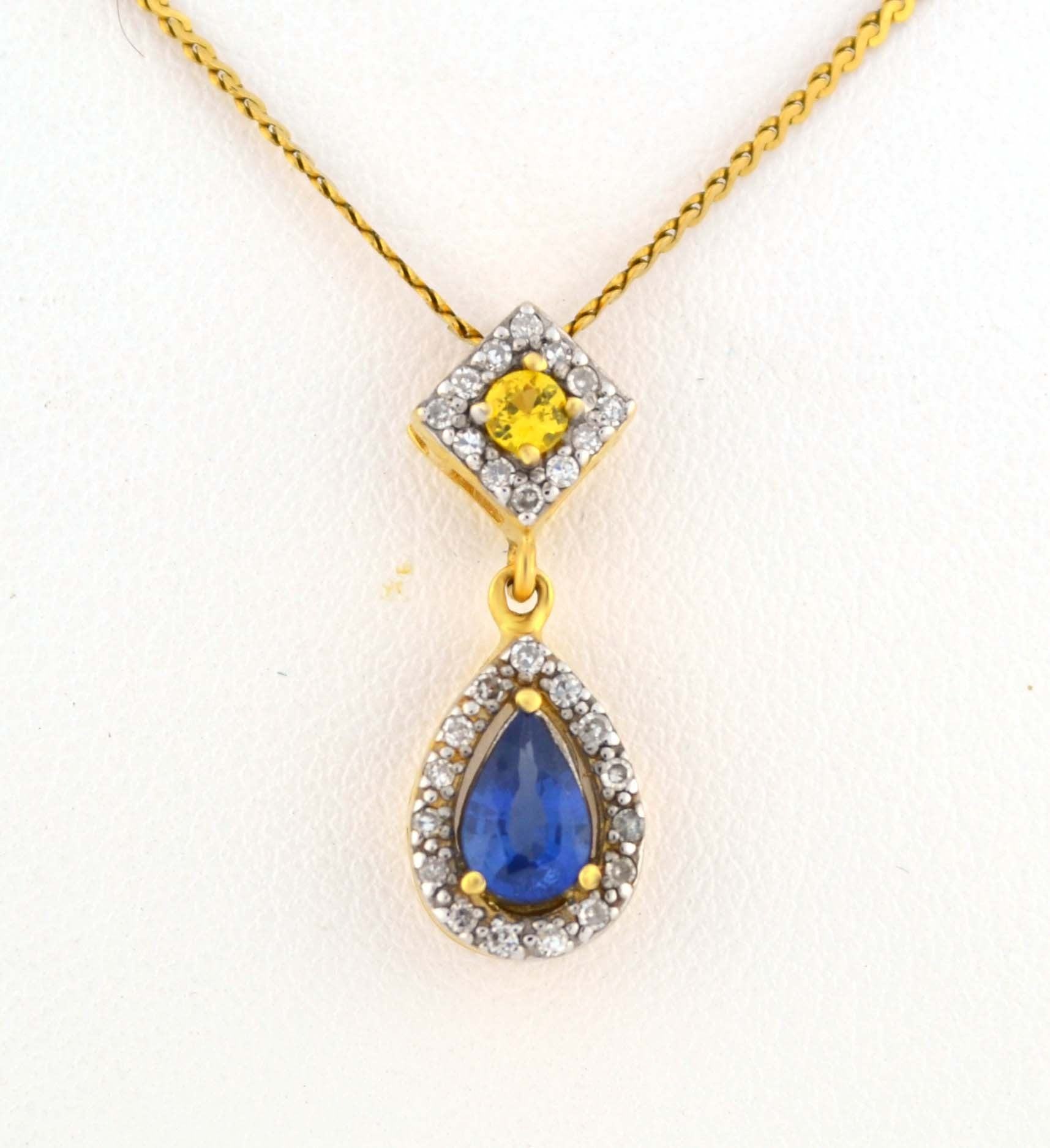 sapphire stone mallory shelter products pink drop pendant jewelry mini yellow necklace