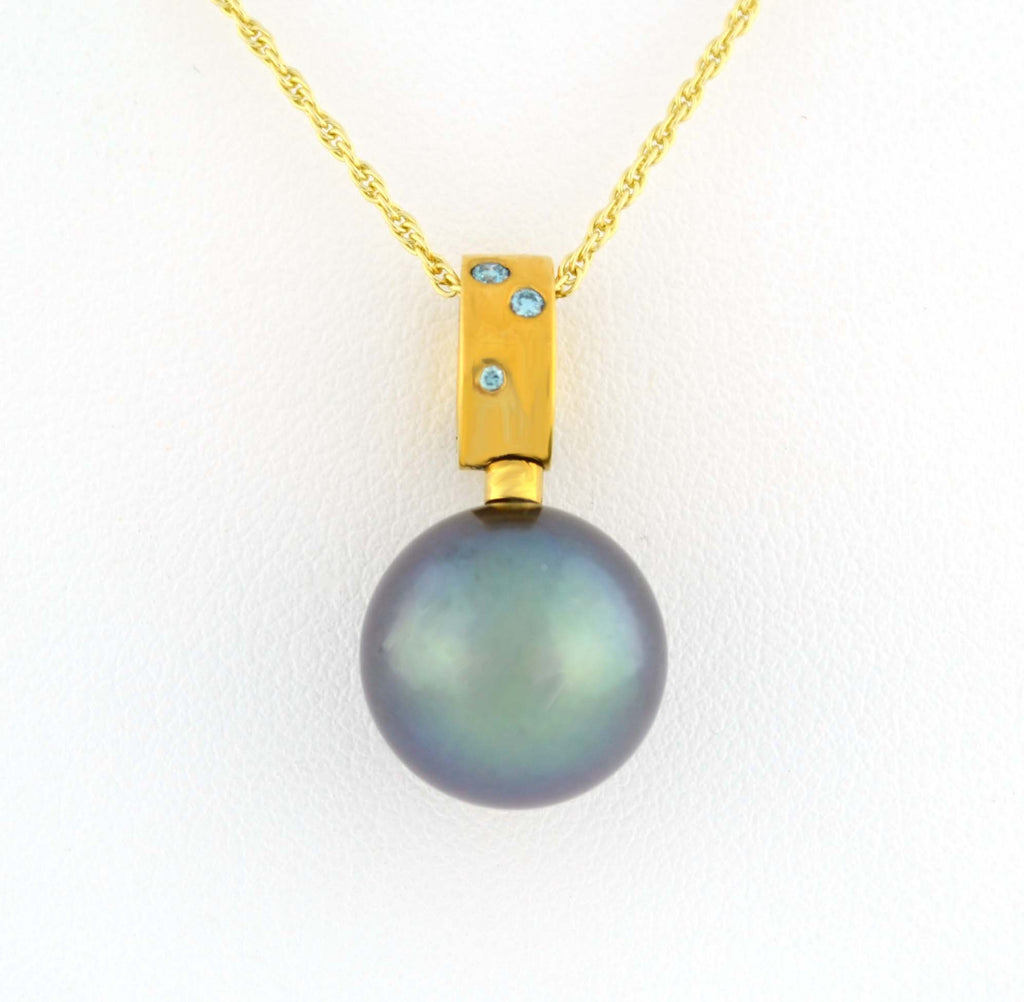 P-204 Tahitian Pearl & Blue Diamond Enhancer