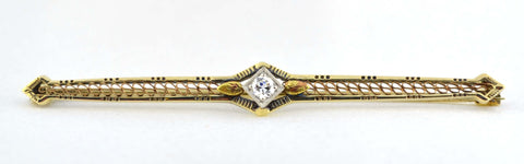 PN-001 Antique Diamond Bar Pin