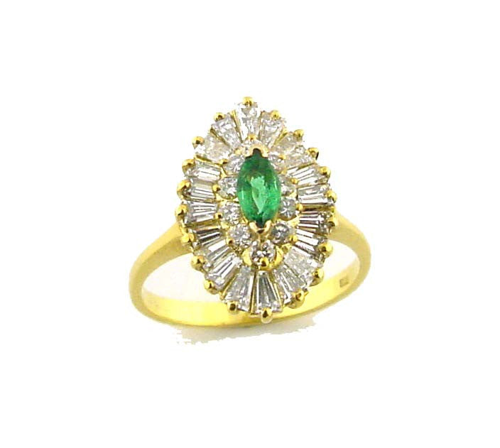MR-141 Emerald & Diamond Ring