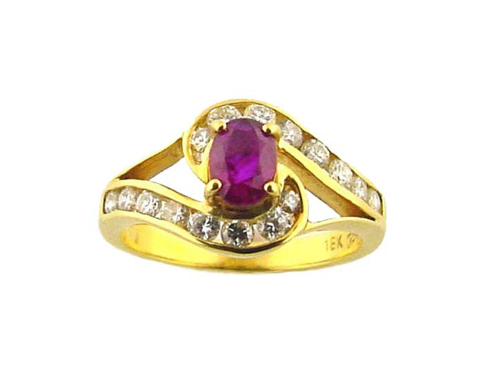 R-634 Ruby & Diamond Ring