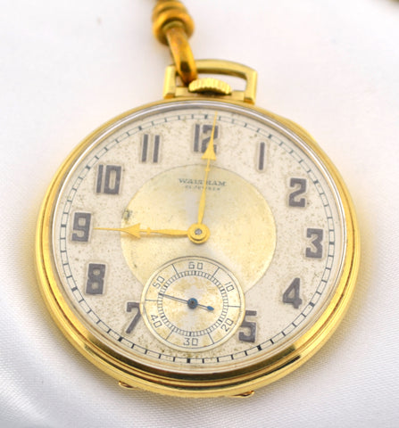 W-007 Anitque Gold Waltham Pocketwatch