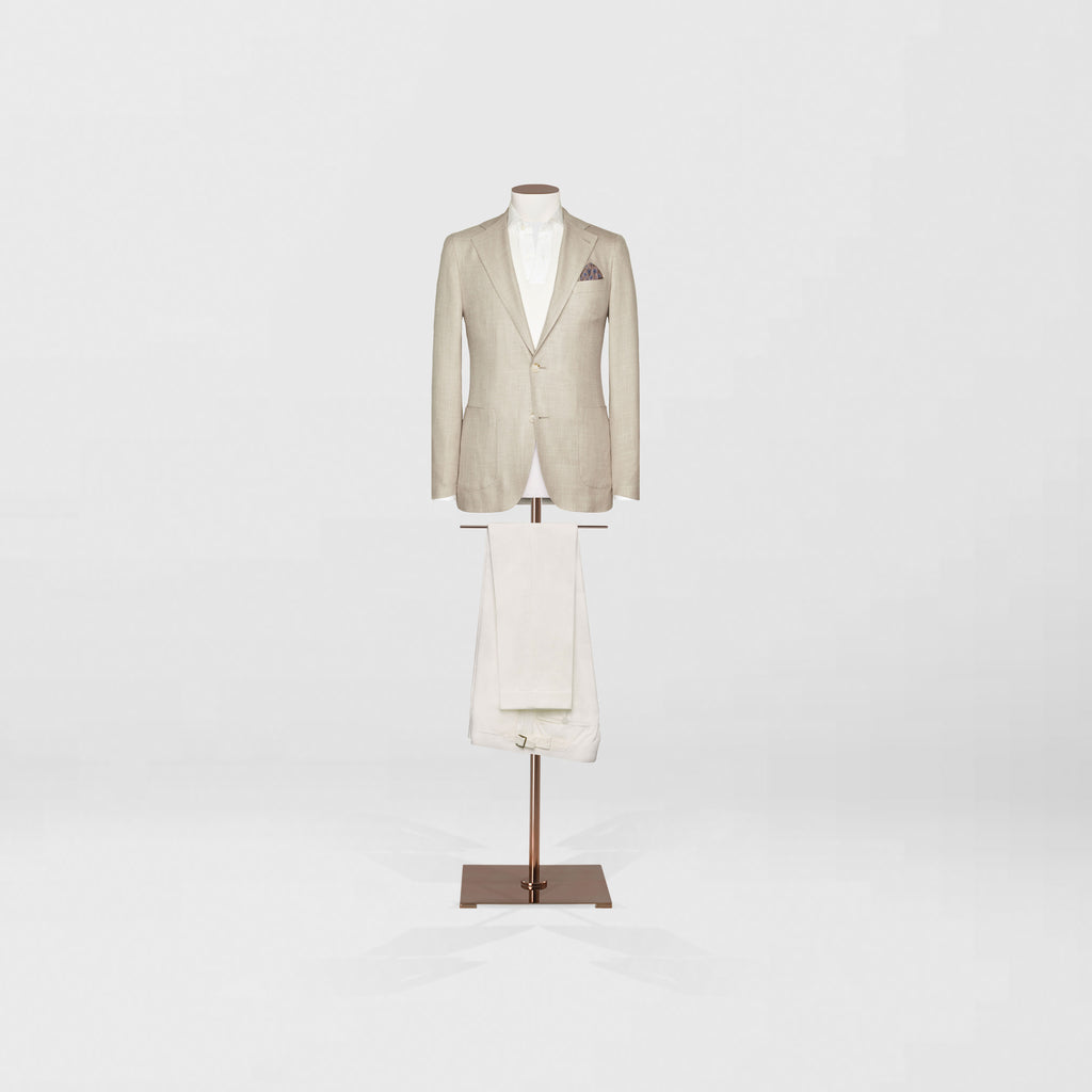 Deconstructed sports jacket & cotton trouser - Tailor & Co Sydney.