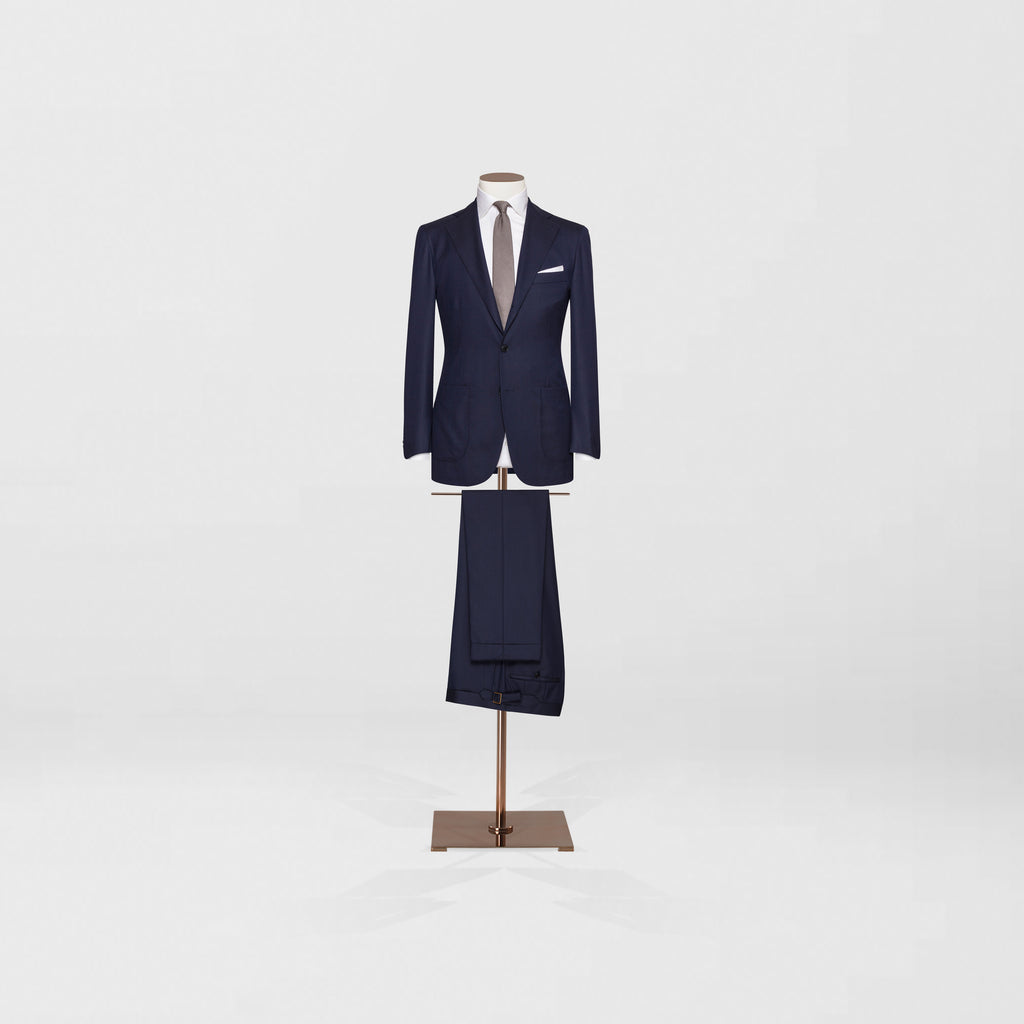 Navy two piece with patch pocket - Tailor & Co Sydney.