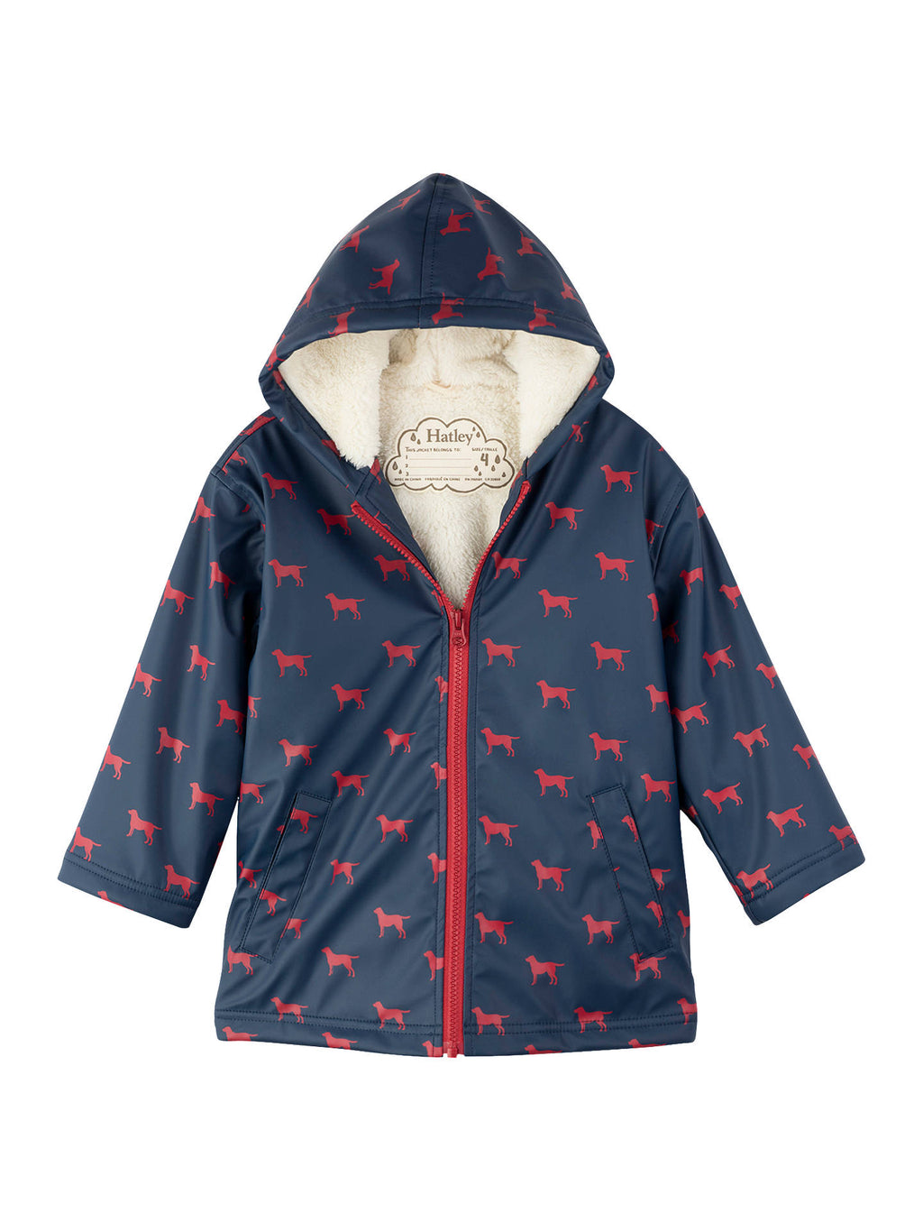 AW18 Hatley Boys Navy & Red Labs Raincoat