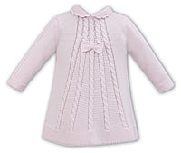 AW18 Sarah Louise Baby Girls Pink Knitted Dress 008056