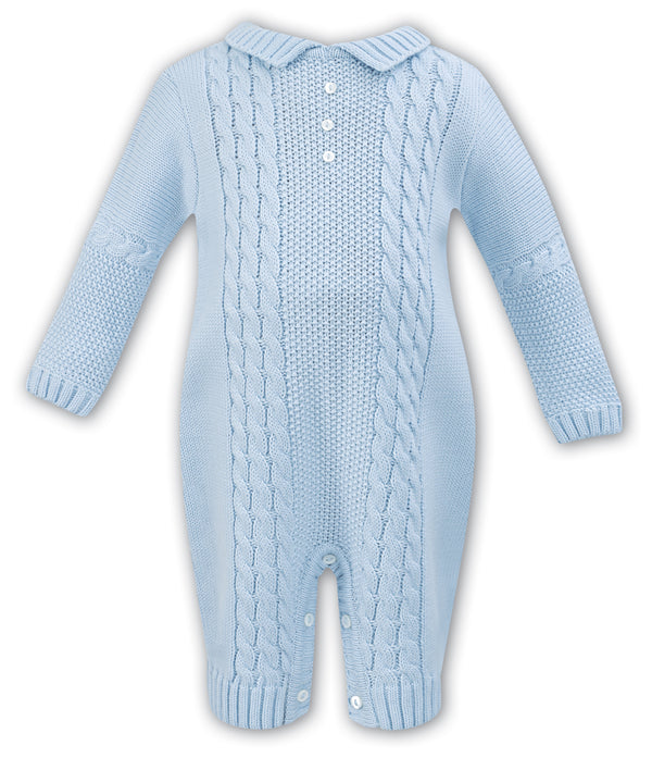 AW18 Sarah Louise Baby Boys Knitted Babygrow