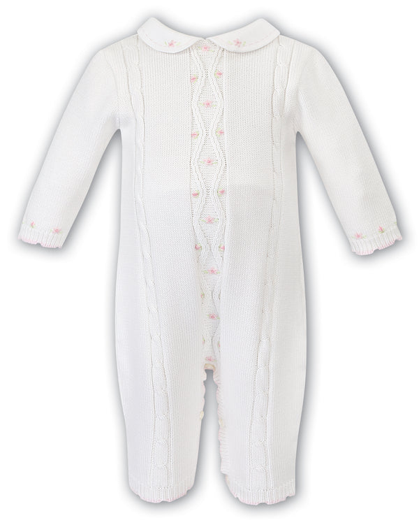 AW19 Sarah Louise Baby Girl Ivory Knitted Babygrow