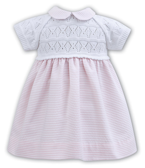 SS18 Sarah Louise Pink & White Stripy Dress 011122