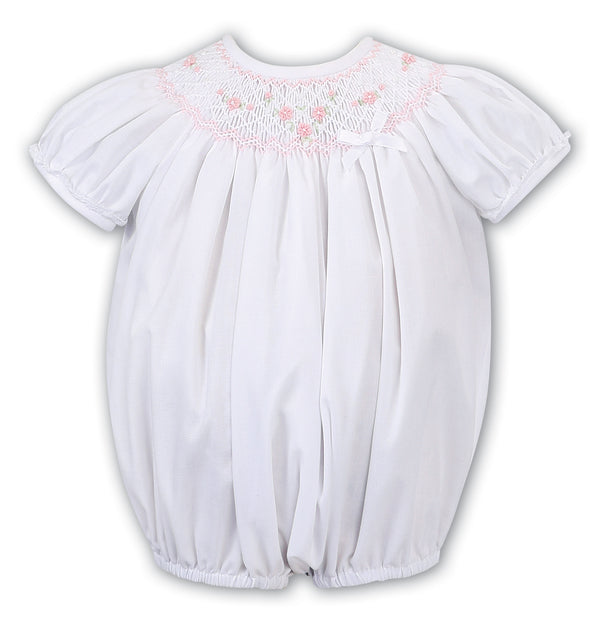 AW19 Sarah Louise Baby Girls White Romper