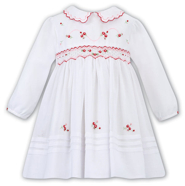 AW19 Sarah Louise Baby Girls White Smocked Dress