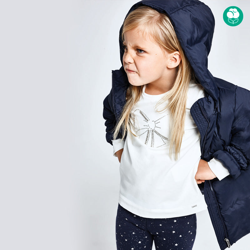 AW20 Mayoral Girls Ivory Bow Top 178