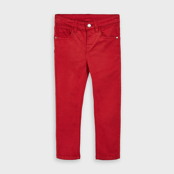 AW20 Mayoral Boys Red Chino Trousers 517