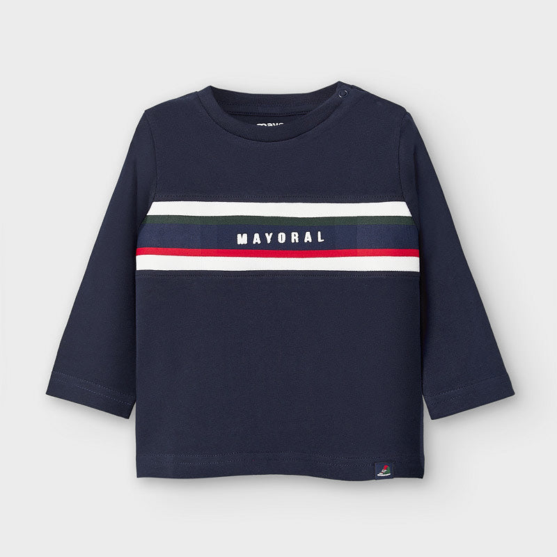AW20 Mayoral Toddler Boys Navy Blue Top 2046