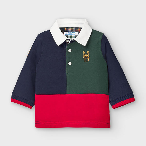AW20 Mayoral Toddler Boys Navy Blue Rugby Polo Top 2122
