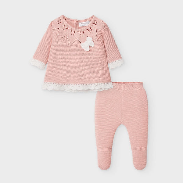 AW20 Mayoral Baby Girls Pink Knitted Set 2549