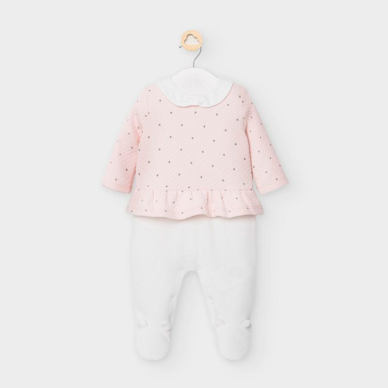 AW20 Mayoral Baby Girls Pink & White Babygrow 2626