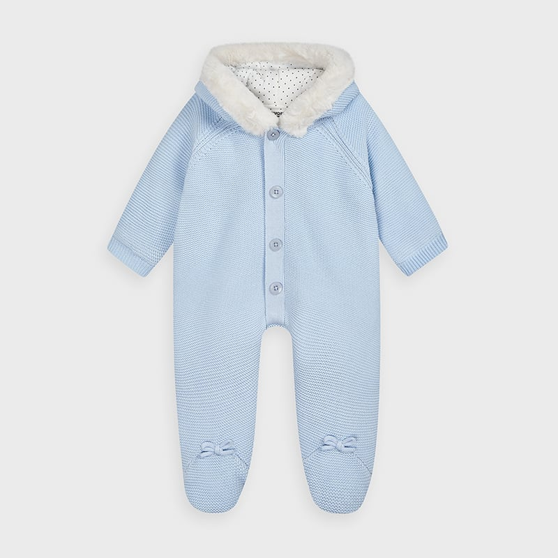 AW20 Mayoral Baby Boys Blue Knitted Pramsuit 2631