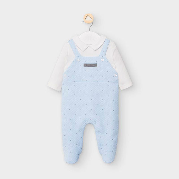 AW20 Mayoral Baby Boys Blue & Cream Babygrow 2633