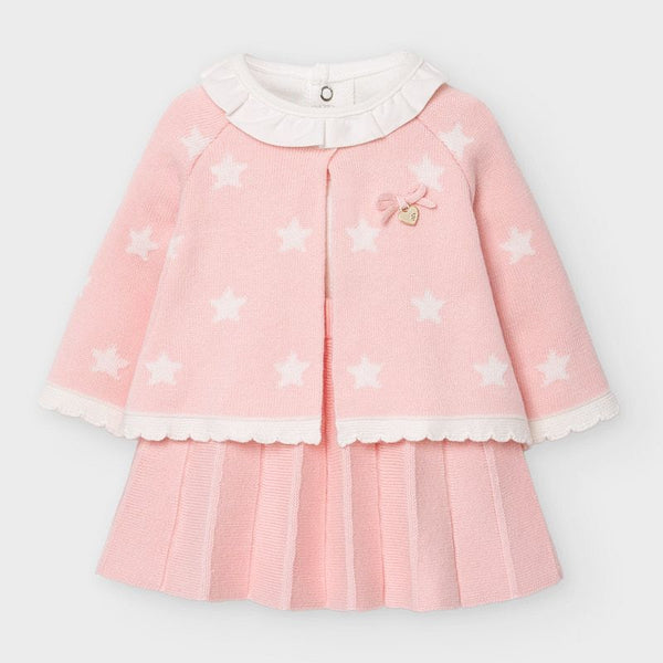 AW20 Mayoral Baby Girls Pink Three-Piece Set 2859
