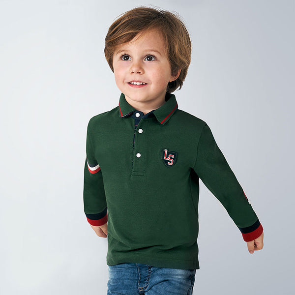 AW20 Mayoral Boys Green Polo Top 4134