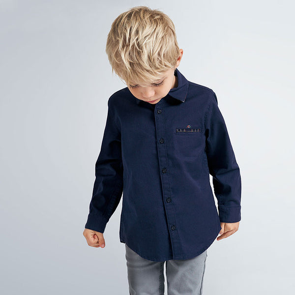 AW20 Mayoral Boys Navy Blue Shirt 4145