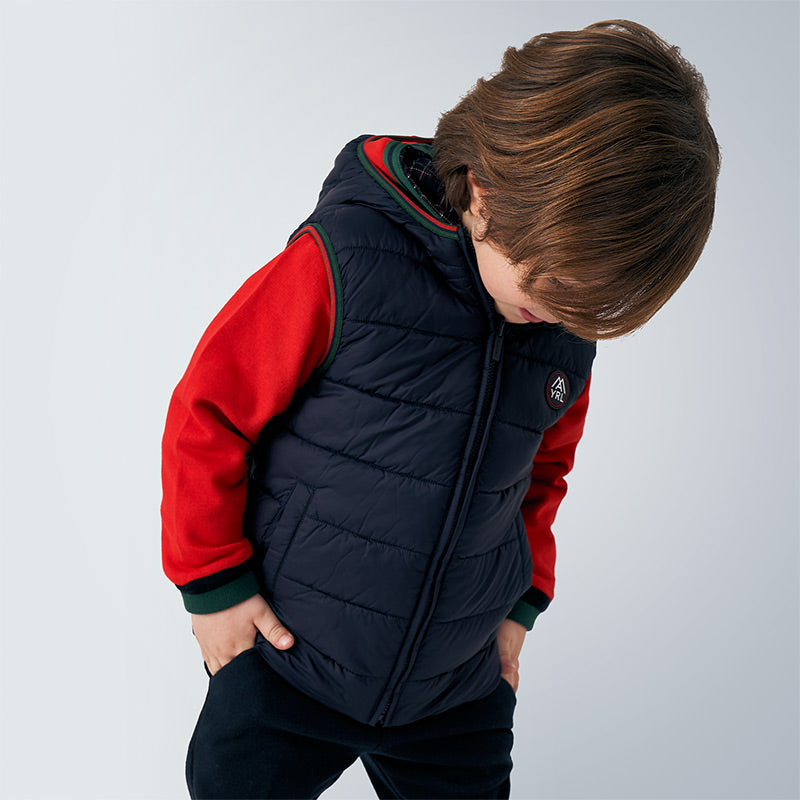 AW20 Mayoral Boys Navy Blue Reversible Gilet 4336