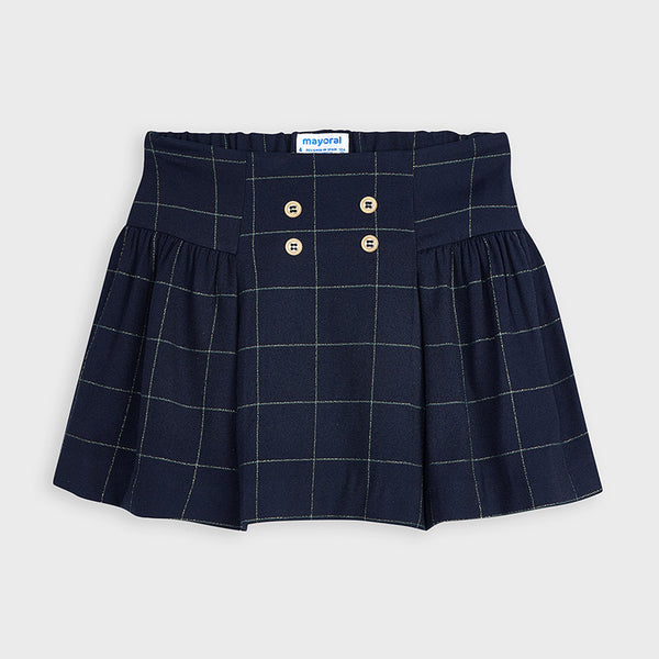 AW20 Mayoral Girls Navy Blue & Gold Skirt 4954