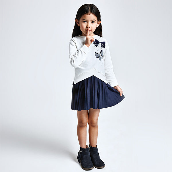 AW20 Mayoral Girls Jumper & Pleated Dress Set 4986