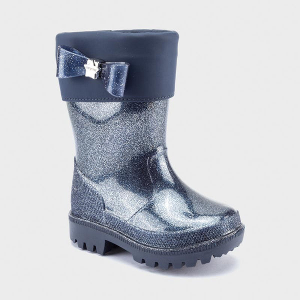 AW20 Mayoral Girls Navy Blue Glitter Wellies 42150