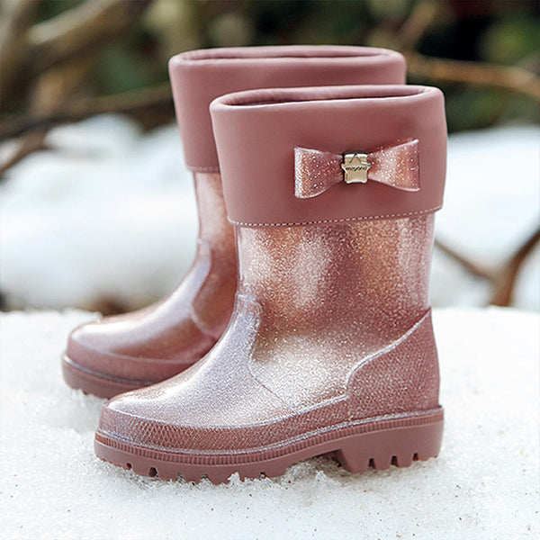 AW20 Mayoral Girls Rose Pink Glitter Wellies 42150
