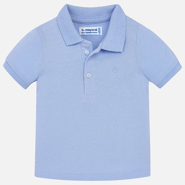 SS18 Mayoral Toddler Pale Blue Polo Shirt 102