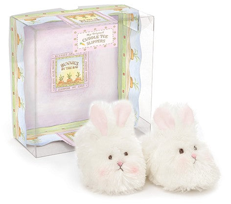 Bunnies By The Bay Cream Cuddle Toe Slippers