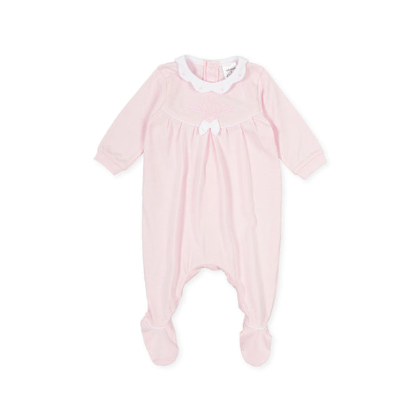 SS21 Tutto Piccolo Baby Girls Pink Babygrow 1181