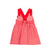 SS21 Tutto Piccolo Girls Red & White Check Dress 1260