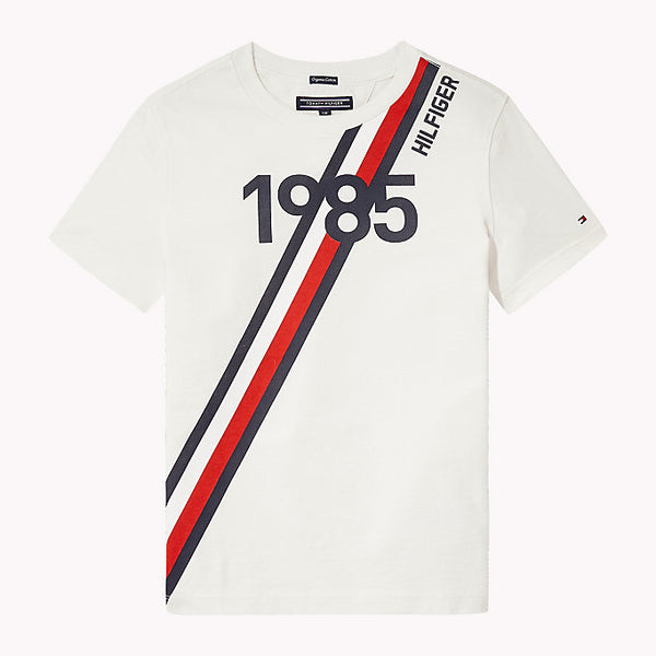 SS18 Tommy Hilfiger Boys White 1985 T-Shirt