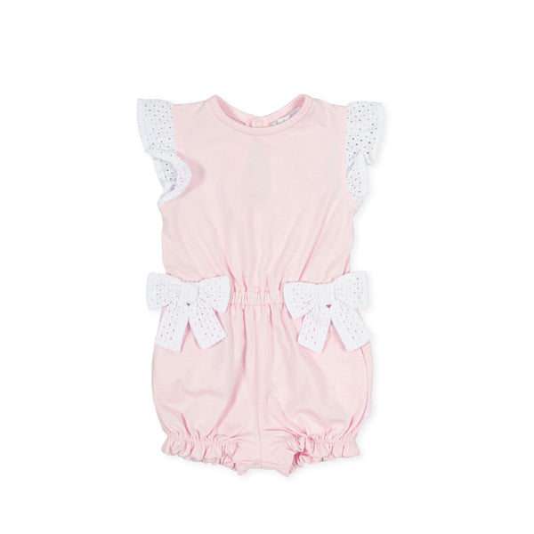 SS21 Tutto Piccolo Girls Pink Playsuit 1410