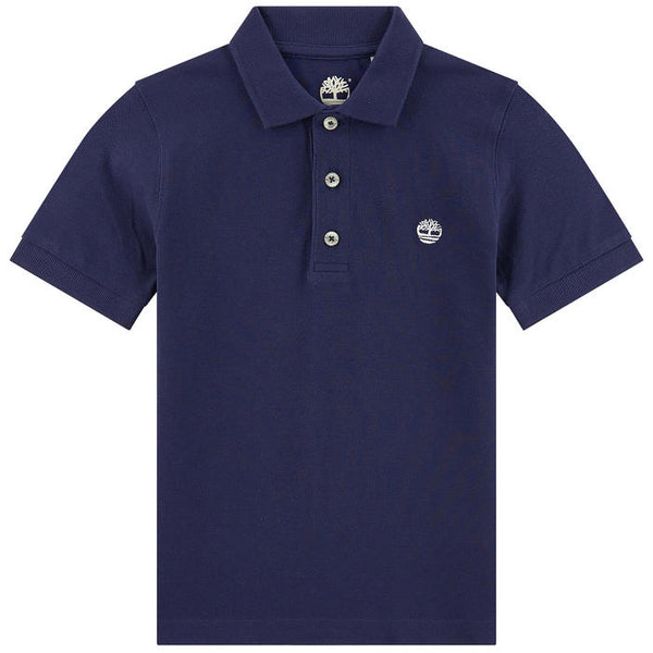 SS19 Timberland Boys Navy Blue Polo Top
