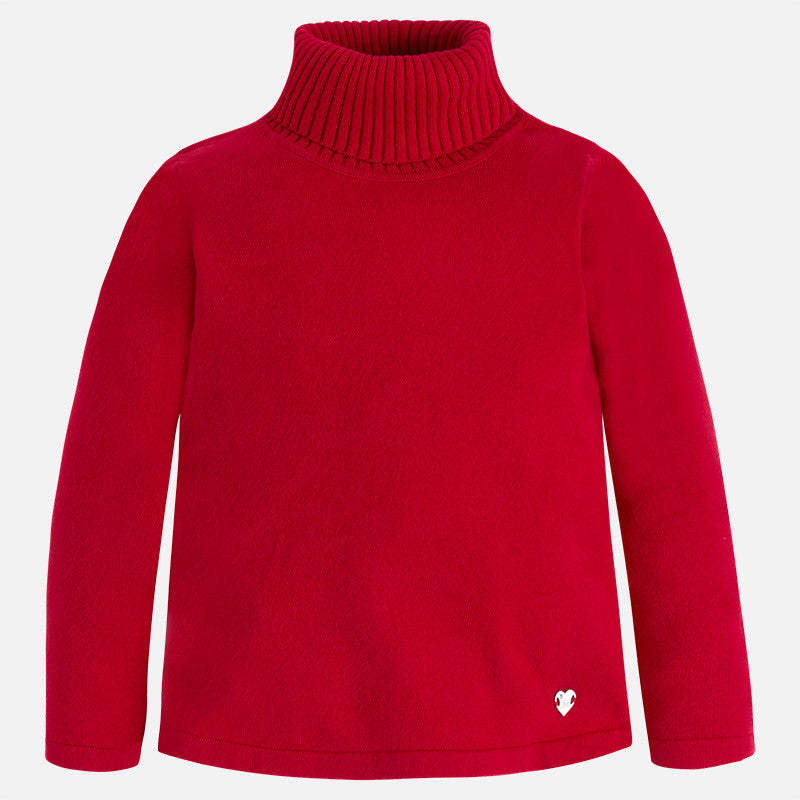 AW17 Mayoral Girls Red Roll Neck Knitted Jumper 313