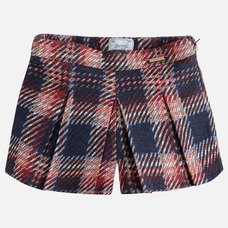 AW17 Mayoral Girls Navy Check Skort 4919