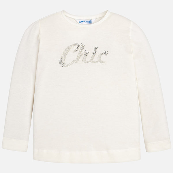 AW18 Mayoral Girls Ivory 'Chic' Top 178