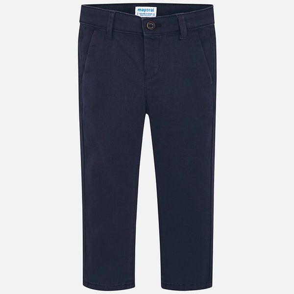 AW18 Mayoral Boys Navy Blue Twill Chinos 513