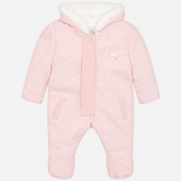 AW18 Mayoral Baby Girls Pink Stars Snow Suit 2616