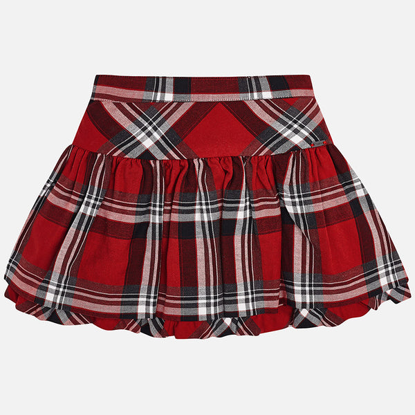 AW18 Mayoral Girls Red Tartan Skirt 4914